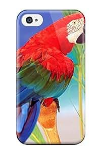 Lennie P. Dallas's Shop Best New Style Hard Case Cover For Iphone 4/4s- Tropical Colors Parrot
