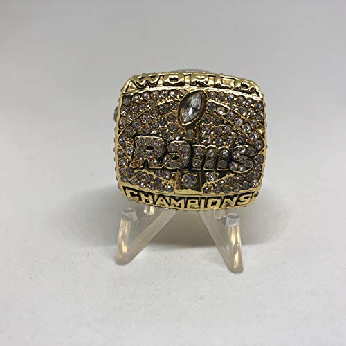 (Kurt Warner St. Louis Rams High Quality Replica 2000 Super Bowl XXXIV Championship Ring Size 11.5 -Gold)
