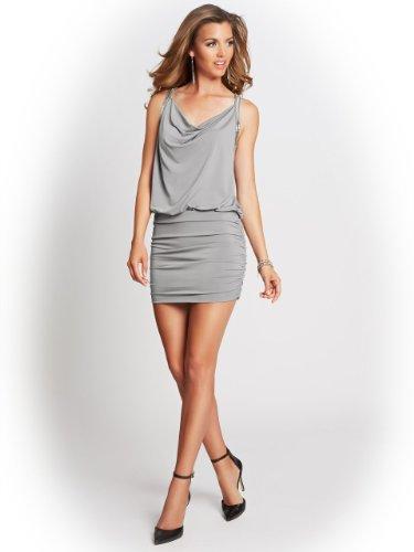 GUESS Women's Sleeveless Open-Back Chain Dress