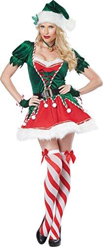 California Costumes Women's Santa's Helper Adult, Green/Red, -