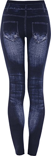 Embroidered Leggings Jeggings Ladies 203 Diamante Stretchy Womens Jeans Blue Eliza's Fitted 8wtEW