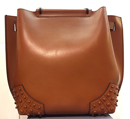 TODS BORSA A MANO SHOPPING WAVE COLORE CUOIO