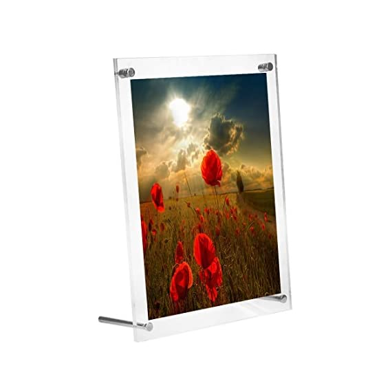 BOJIN Clear Acrylic 6 by 8 Inch Picture Frames for Table Top or Wall Display Transparent Photo Frames for Portraits or Vacation -  - picture-frames, bedroom-decor, bedroom - 41mw5VgO8cL. SS570  -