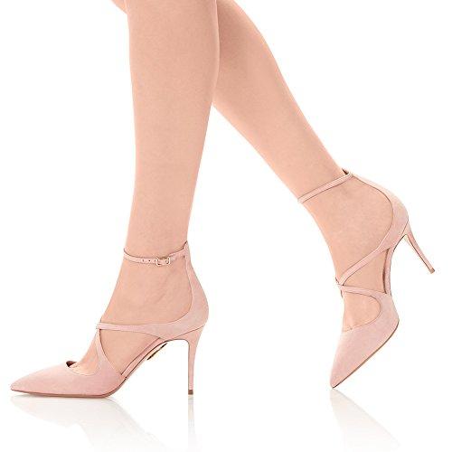 Cinturino Sexy KJJDE 8111 Pink Caviglia Pole Scamosciato Altissimo Donna Con Sexy Alto Dance Elegante Tacco 41 TLJ Aggiornamento Tacco Alla fqr0Iwf