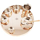Indian Art Villa Stainless Steel & Copper Traditional Royal Kitchen Dinner Set Of 8 Piece