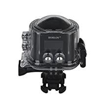 Boblov Ultra HD 4K 360 Degree Panoramic Camcorder Waterproof VR Sport Action Camera DVR X6S