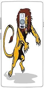 Snoogg Lion Big Cat Attacking Retro Designer Protective Back Case Cover For O...