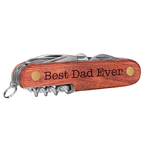 P Lab Pocket Knife, Fathers Day Gift Best Dad or Grandpa Ever Gift Custom Engraved 6 Function Multitool Gift Custom Knife, Multi-tool Knives, Engraved Name, Custom Text, Christmas Gift for Him #4 (Function Six Knife)