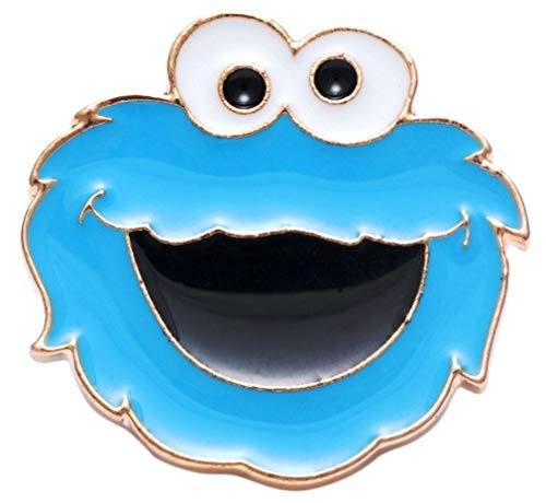 - New Horizons Production Cookie Monster Face Metal Enamel Pin