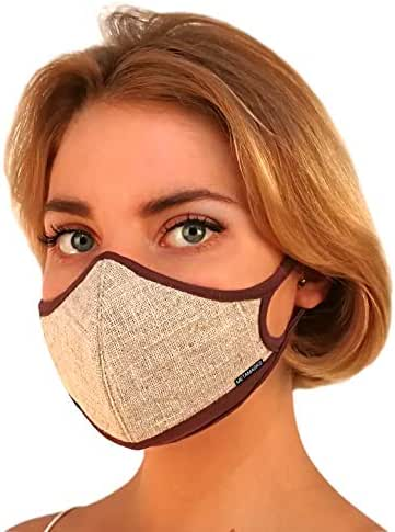 Air Pollution Face Mask Fashion for Women & Kids, N99 N95 Dust Mask - Breathing Masks with Filter | Carbon Filtration Protection Exhaust Gas Anti Pollen Allergy Washable Eco Friendly PM2.5 99.99%