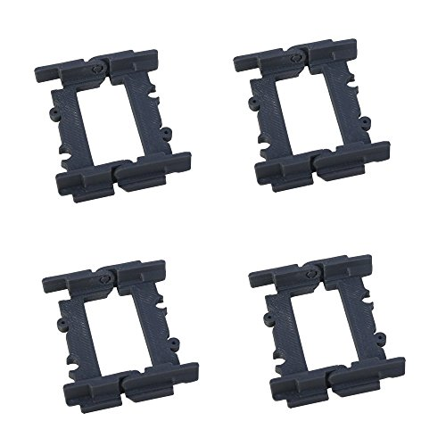 hinge track rail for building an incline decline or drawbridge bridge compatible with toy train brands LEGO City kit sets / Enlighten / Slick Bricks / switch straight curved splitter flexible