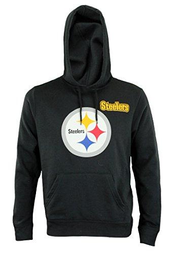 Hood Athletic Majestic (Majestic Athletic NFL Mens Intimidating Pullover Fleece Hoodie, Pittsburgh Steelers)