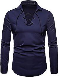Mens Dress Shirts Regular Fit Long Sleeve Casual Shirt Pullover