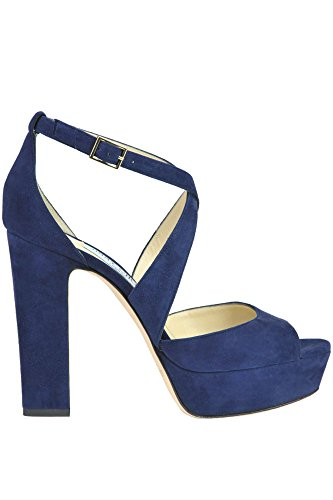 Jimmy Choo Women's MCGLCAT03020E Blue Suede Sandals cheap find great discount low shipping fee cheap high quality sale fashion Style 5Qjsc