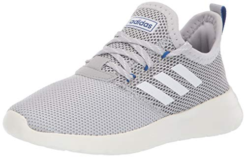 - adidas Unisex Lite Racer Reborn, Grey/White/Collegiate Royal, 1 M US Little Kid