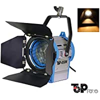 Top-fotos Pro Film 650W Lighting Fresnel Tungsten Spot light With Globe For Video Studio Camera