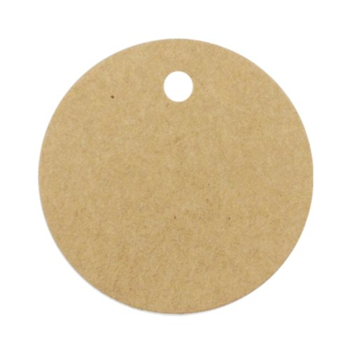 Wrapables 50 Gift Tags/Kraft Hang Tags with Free Cut Strings for Gifts/Crafts and Price Tags, (Cardboard Circles)