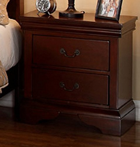 Poundex PDEX-F4735 Nightstand, Brown - bedroomdesign.us