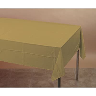 Creative Converting Touch of Color Plastic Table Cover, 54 by 108-Inch, Glittering Gold from Creative Converting