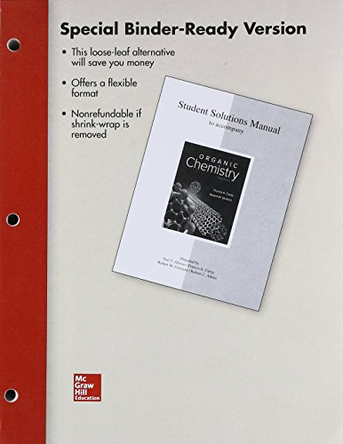 Chemistry Student Solutions - Loose Leaf Student Solutions Manual Organic Chemistry