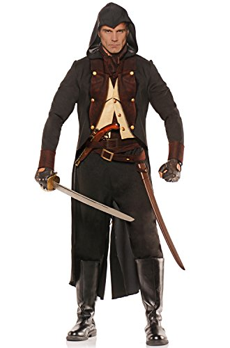 Underwraps Eliminator Adult Costume-XX-Large (Colonial Pirate Costume)