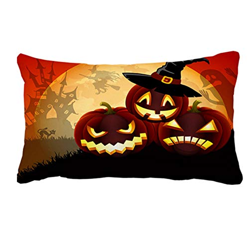 Julyou Happy Halloween My Love Quotes Throw Pillow Cover for Sofa 16 x -