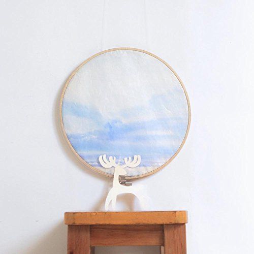 """""""Forest Song"""" Valley After Rain - Original Chinese Paintings on Rice Paper - Framed on Embroidery Hoop from IGREANpainting"""