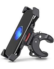 FYLINA Anti-Shake Universal Fahrrad Handyhalterung Halterung für Fahrrad, Mountainbike, Motorrad - 360° drehbar - iPhone Samsung, Huawei, Google [Neue Premium Edition!] (Schwarz) (Schwarz)