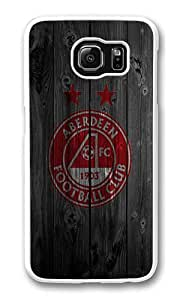 Samsung Galaxy S6 Case, Galaxy S6 Cover - Rugged Plastic Aberdeen Football Club White Hard Shell Snap on Bumper Case Cover for Samsung Galaxy S6