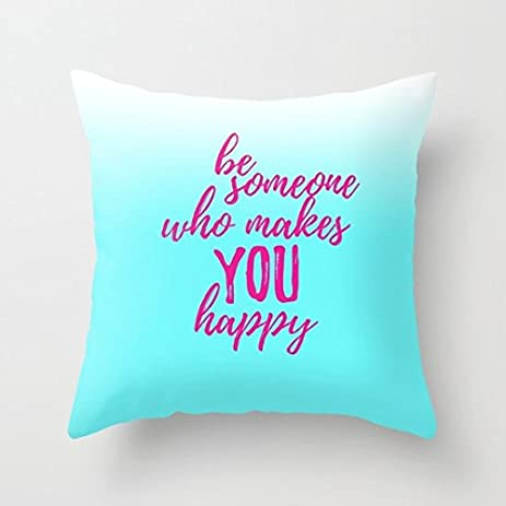 Amazon Happiness Quotes For Girls Throw Pillows With Sayings Extraordinary Decorative Pillows With Quotes