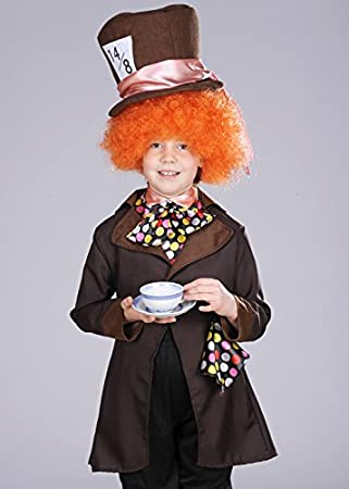 Kids Brown Wonderland Mad Hatter Costume with Wig Small (4-6 years)  sc 1 st  Amazon UK & Kids Brown Wonderland Mad Hatter Costume with Wig Small (4-6 years ...