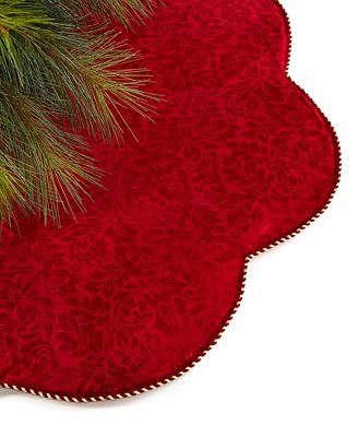 Holiday Lane Burgundy Velvet Tree Skirt