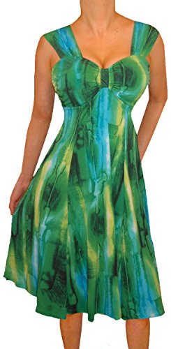 Funfash PP3 Plus Size Women Emerald Green Slimming Cocktail Cruise Dress New 3X