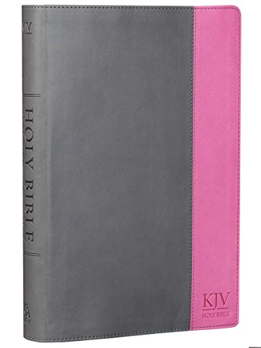 Holy Bible: KJV Super Giant Print Edition: Two-tone Charcoal / Pink (King James Bible) [Christian Art Publishers (Producer)] (Tapa Dura)