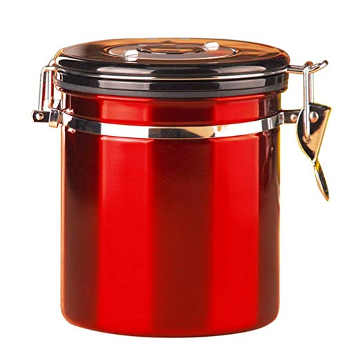 Reservoir Exhaust Closed Tank 304 Stainless Steel Storage Tank Tea Coffee Bean Dried fruit preservation container (Color : -, Size : -)