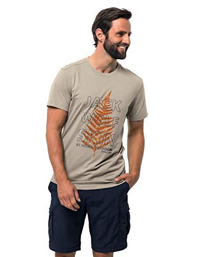 Jack Wolfskin Men's Island Hill T Men's Organic Cotton-blend T-shirt,Dusty Grey ,Medium