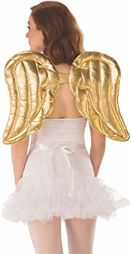 Rubie's Unisex-Adult's Standard Gold Costume Wings, Multicolor, One Size