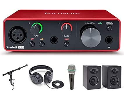 Amazon.com: Focusrite Scarlett Solo (G3) con micrófono ...