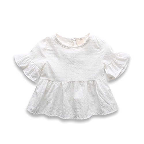 Baby Girl Dress, Lotus Leaf Style Toddler Dress / Dance Skirt for 1-4 Years,White,92(18-24 (Misses Halloween Pajamas)