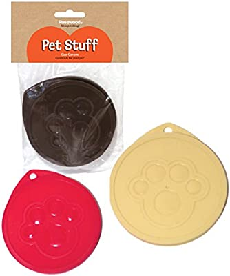 Pack of 3 Chef Aid Pet Food /& Tin Can Covers 7.5cm Keeps Pet Food Fresh
