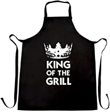 b22558e7 Funny Cooking Chefs Apron King Of The Grill Novelty Slogan Black One ...
