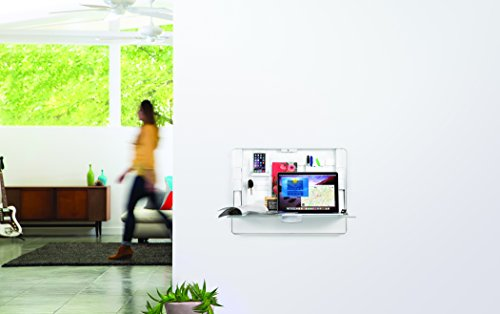 ErgotronHome Workspace Wall Mounted, Height-Adjustable Standing Desk & Organizer (HUB27 White) by ErgotronHome (Image #5)