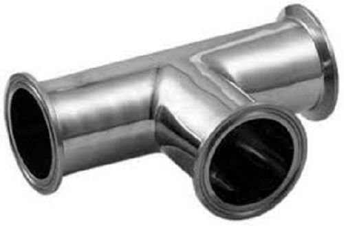 """1.5"""" Sanitary Tee with 1.5"""" Tri Clamp Tri Clover Fittings Stainless Steel 304 -  YUCHENG TECH, YF-EB368"""