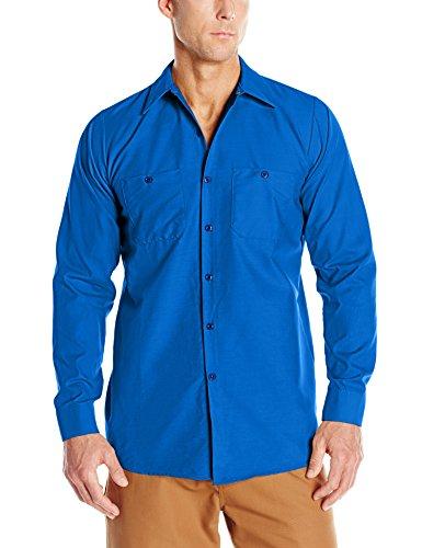 Red Kap Men's Industrial Work Shirt, Regular Fit, Long Sleeve, Royal Blue, X-Large for $<!--$18.46-->
