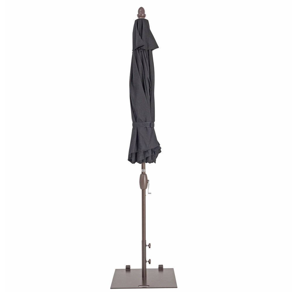 Abba Patio 53 lb. Square Steel Market Patio Umbrella Base Stand with Wheel and 2 Separate Poles for 1-1/2'' and 1-7/8'' Diameter Umbrella, 24''L x 24''W, Brown by Abba Patio (Image #5)