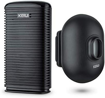 KERUI Long Range Wireless Driveway Alarm Indoor Door Chime Receiver Outside Waterproof Infrared Motion Sensor Detector DIY Home Security doorbell Alarm Kit – LED Indicator