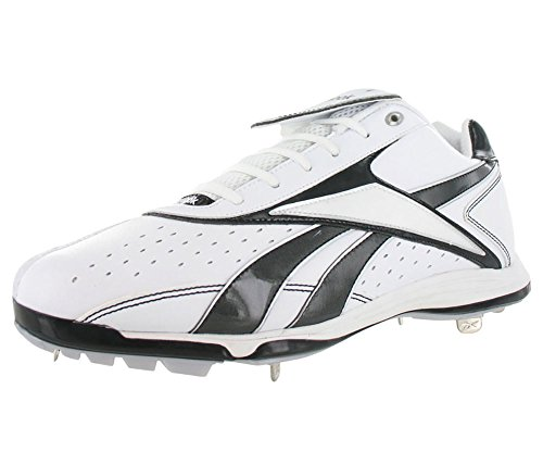 Mens Black White Shoes Low IV Silver Reebok Metal Vero Size Baseball BSBL mm wqn0HxUP