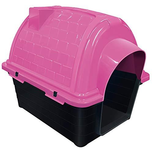 Casinha Plástica Furacão Pet Iglu N.4.0, Rosa Furacão Pet para Cães