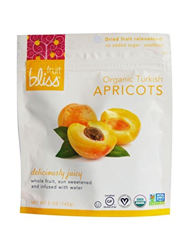 Juicy Apricot - Fruit Bliss Organic Dried Fruit,Turkish Apricots, 5 Ounce