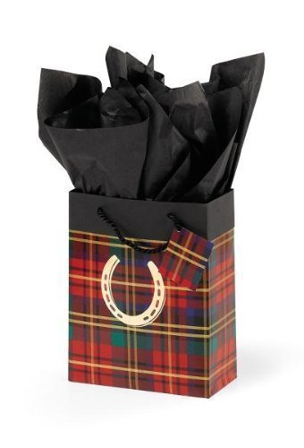 Plaid Horseshoe - Festive Plaid Cub Gift Bag - Plaid by Horseshoe Gift Packaging